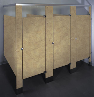 Phenolic Black Core Restroom Partitions