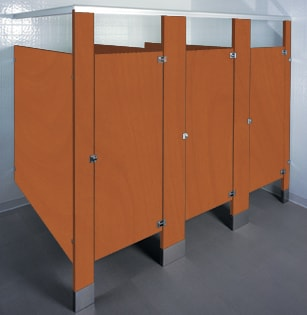 Plastic Laminate bathroom stalls