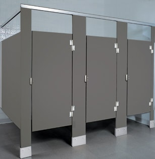 Solid plastic bathroom stalls solid plastic bathroom for Bathroom partitions home depot