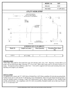 asi 1307-5 Utility Hook Strip