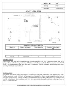 asi 1307-6 Utility Hook Strip